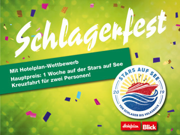 Schlagerfest: Hotelplan-Wettbewerb